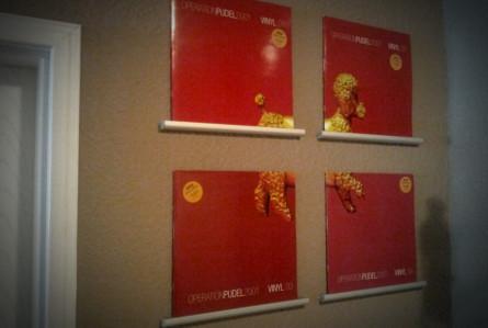 Der ultimative Basteltipp: Ungenutzte Vinyl-Cover an der Wand